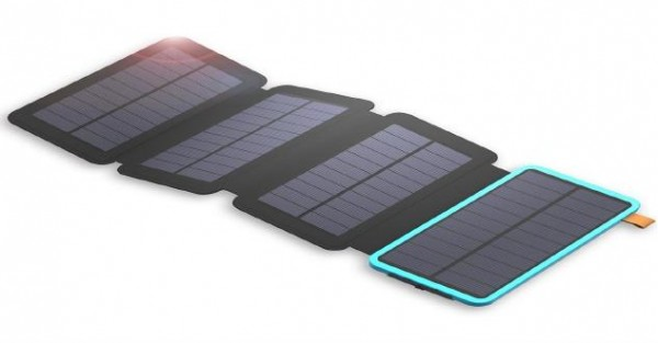 Solar Mat, 20000mAh Solar Charger Power Bank for Mobile Phones, Tablet PCs, Laptops and Other USB-Charged Devices, with 4 Solar Panels, Dual USB ports, LED Flashlight, Waterproof, Dustproof, and Shockproof.