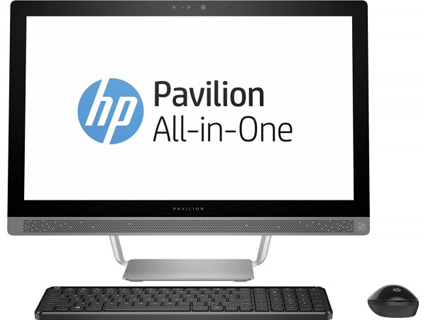 HP Pavilion 24-B267C ALL-IN-ONE Pentium  Dual-Core 23.8''(1920x1080) TOUCHSCREEN DVD-RW WIN 10 Webcam TURBO SILVER Keyboard Mouse