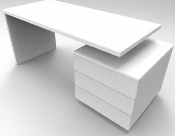Wooddesignes Ruby Series Office Table -White