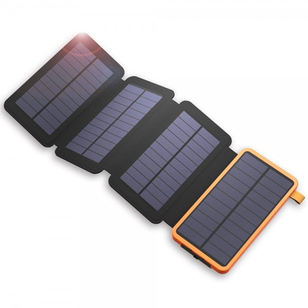 The Omni™ Ultimate Solar Mat, 20000mAh Solar Charger Power Bank for Mobile Phones, Tablet PCs, Laptops and Other USB-Charged Devices, with 4 Solar Panels, Dual USB ports, LED Flashlight, Waterproof, Dustproof, and Shockproof