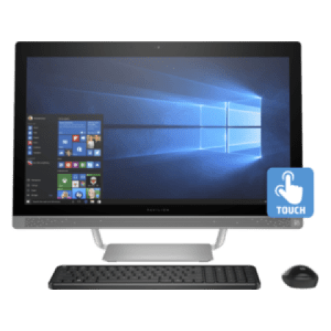 HP Pavilion 24-B010 All-in-One PC – 7th Generation AMD A9 Processor, 8GB RAM, 1TB HDD, Wireless, Bluetooth, 23.8-inch IPS Full HD Touch Display, Windows 10