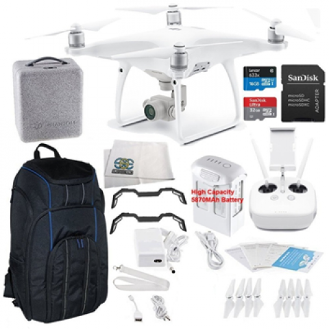 DJI Phantom 4 Advanced Quadcopter Starters Pro Backpack Bundle