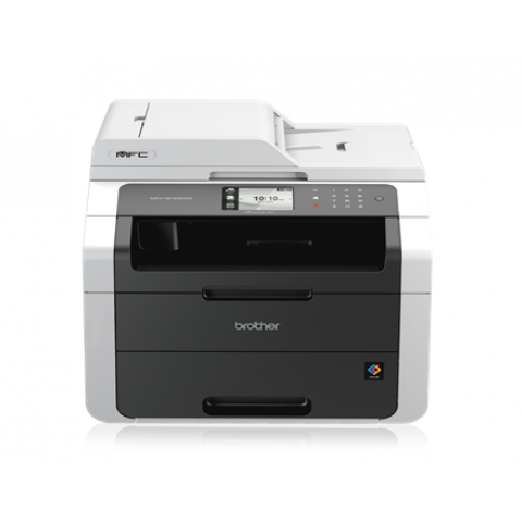 Brother  MFC-9140CDN Colour Laser All-in-One + Duplex, Fax, Network Print, copy, scan and fax Up to 22ppm mono and colour print speeds 9.3cm colour touchscreen Automatic 2-sided printing Wired network ready Connect to your mobile device or the cloud