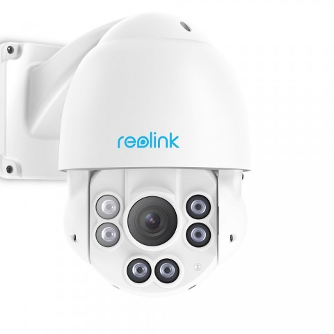 Reolink PTZ PoE IP Security Camera 5MP Super HD 3072x1728 Pan Tilt 4X Optical Zoom High Speed Dome Outdoor Indoor RLC-423 (PoE Cam w/o SD Card)