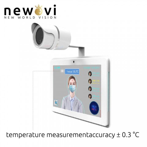 Visionera ThermalBody Temperature Measurement - Face Recognition Non-Contact Body Temperature Measurement System with Face ID Data Bank