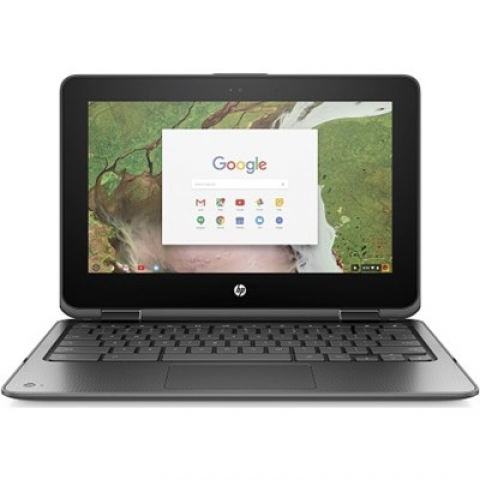 "Hewlett Packard 11-ae020nr x360 11"" Intel N3350 Chromebook Convertible Laptop - 2MW50UA#ABA"