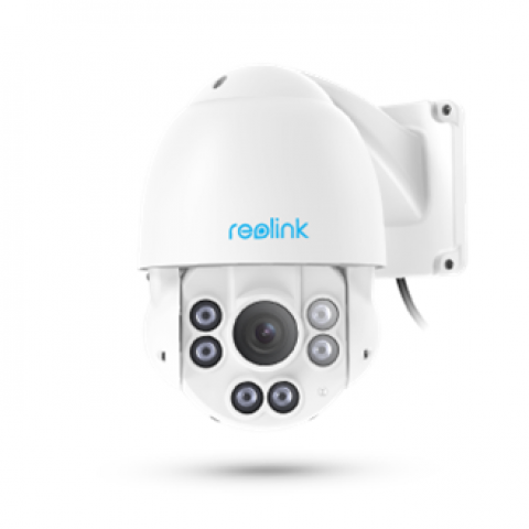 Reolink 5MP Super HD PTZ 2.4/5GHz Dual Band WiFi Security Camera 190ft Night Vision Motion Alert Outdoor Waterproof 32GB SD Card RLC-423WS