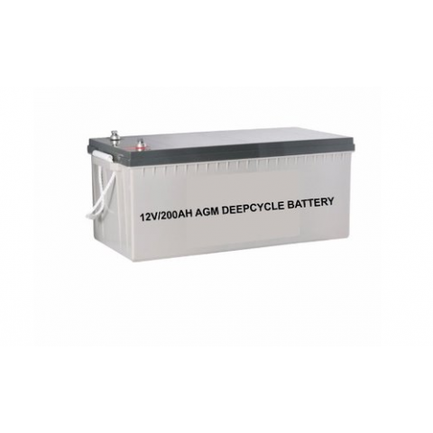 12V/200AH AGM Inverter Solar Deep Cycle Battery