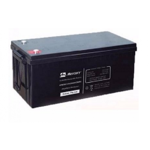 12V 200Ah Mercury Battery Deep Cycle Inverter Battery