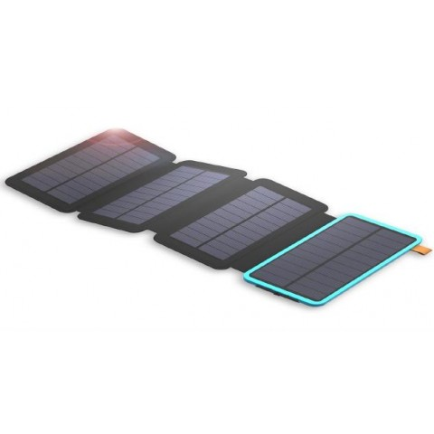 Solar Mat, 20000mAh Solar Charger Power Bank for Mobile Phones, Tablet PCs, Laptops and Other USB-Charged Devices, with 4 Solar Panels, Dual USB ports, LED Flashlight, Waterproof, Dustproof, and Shockproof.Device