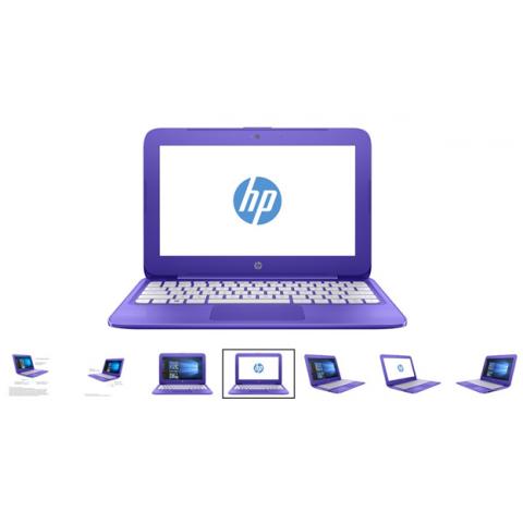 """Hewlett Packard Stream 11-y020nr 11.6"""" Violet Laptop - Intel Celeron N3060 Processor"""